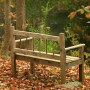 Wood bench overlooking the water